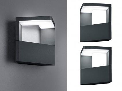 LED Außenwandlampen in Anthrazit 2er Set für Terrassenbeleutung Hausbeleuchtung