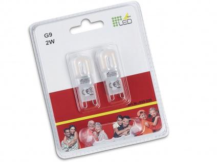 Stiftsockel LED Leuchtmittel 2er SET für G9 Fassungen, 2x 2W & 210lm in Warmweiß