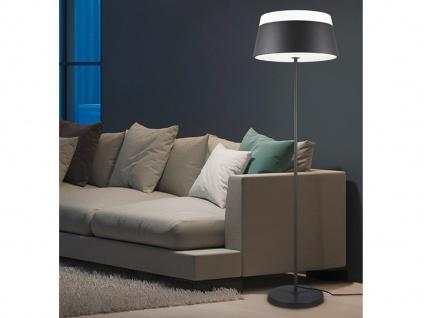 Stehleuchte modern mit Lampenschirm rund Metall Anthrazit Grau - Wohnzimmerlampe