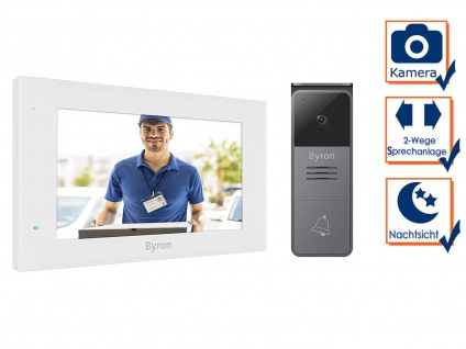 Einfamilienhaus Video Türsprechanlage mit Nachtsichtkamera & 7 Zoll Touchscreen
