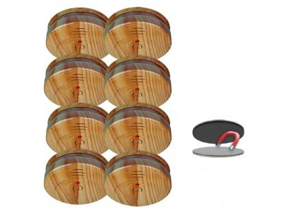 8er SET Rauchmelder Holzoptik 5 Jahres Batterie & Magnetbefestigung, Feueralarm - Vorschau 2