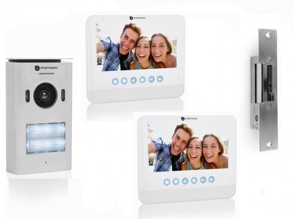 Set: 2 Familienhaus Video Gegensprechanlage mit Kamera + 7 Zoll LCD + Türöffner - Vorschau 2