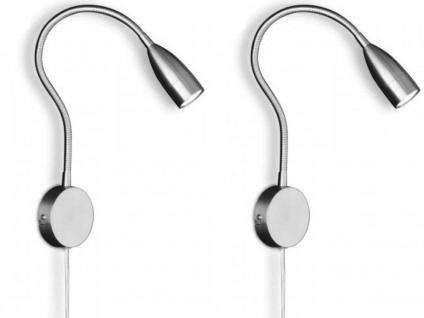 2er Set Honsel LED Wandleuchten Leselampen flexibel, dimmbar per Gestensteuerung