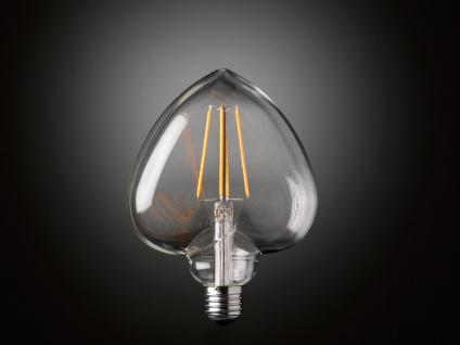 FILAMENT LED Leuchtmittel Herzform 4 Watt, 300 Lumen, 1800 Kelvin, E27-Sockel - Vorschau 5
