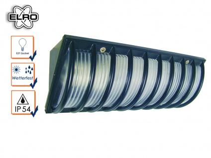 Schwarze Elro Wandleuchte Außenlampe mit Schutzgitter, Außenleuchte Eckmontage