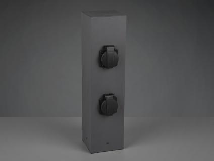 Steckdosensäule außen Anthrazit 2er Set Außensteckdosen 4 fach Gartensteckdosen - Vorschau 5