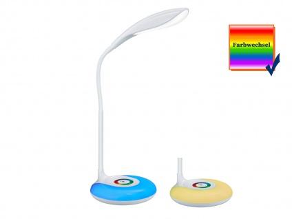Flex Schreibtischleuchte in Weiß Touch Dimmer USB Anschluß + RGB Farbwechsler - Vorschau 3