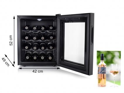 Kleiner Weinkühlschrank für 16 Flaschen - Weintemperierschrank Weinklimaschrank