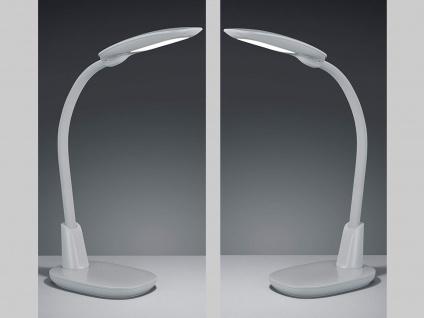 2 LED Tischleuchten mit Flexgelenk in grau 4fach TOUCH DIMMER mit USB Anschluss