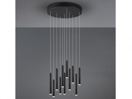 Runde LED Pendelleuchte Schwarz matt mit 3 Stufen Dimmer Lampe für über Esstisch