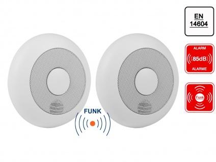 2er-Set vernetzbare Rauchmelder, Funkreichweite bis 20m, verlinkbar, erweiterbar