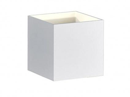 Kubusförmige LED Wandleuchte in weiß matt 10 x 10 x 10cm Wandspot Würfelform
