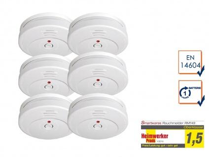 6er SET Smartwares Rauchwarnmelder TÜV zertifiziert - Brand Feuer Melder Alarm