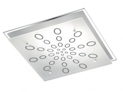 LED Deckenlampe Wandleuchte mit Dimmer aus Glas quadratisch fürs Ankleidezimmer - Vorschau 2
