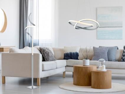 LED Stehleuchte mit Sensor Dimmer in Weiß matt Ø 21cm, 145cm hoch Memoryfunktion - Vorschau 5