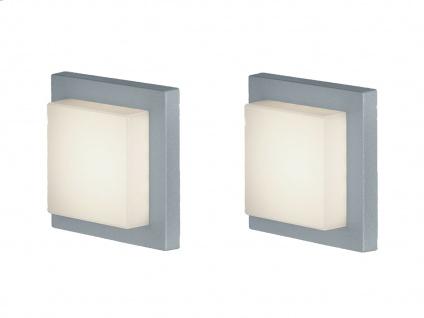Eckige LED Außenwandlampe in Grau 2 Außenleuchten für Hauswand Außenbeleuchtung - Vorschau 2