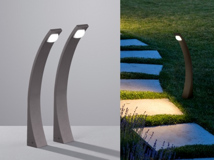 LED Außenleuchten Anthrazit Wegeleuchten 2erSet Gartenbeleuchtung Wegbeleuchtung