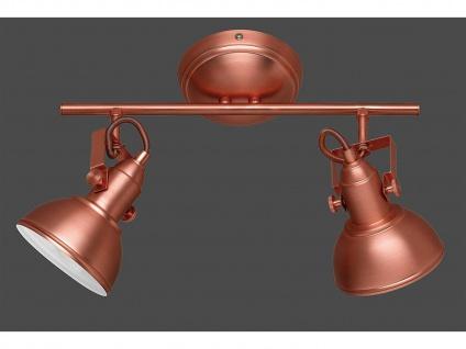 LED Deckenspot im Retro Look aus Metall in Kupfer dreh + schwenkbar Wandstrahler