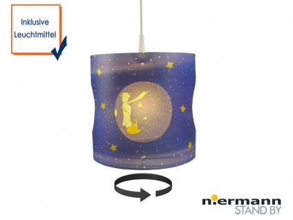 Kinder LED Pendelleuchte drehend Kleiner Prinz dimmbar Kinderzimmer Lampe Decke