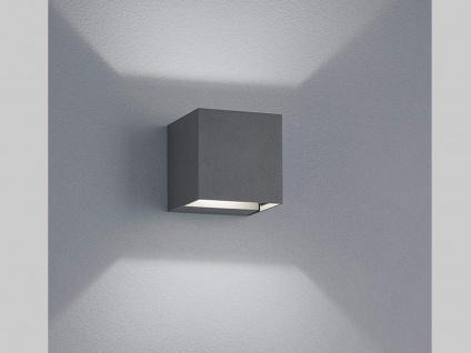 Up & Down LED Außenwandleuche aus ALU in anthrazit Kubus Gartenlicht IP54, H 8cm - Vorschau 1