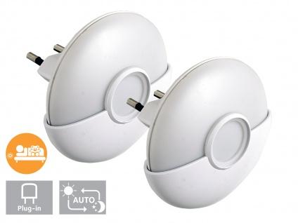 2er-Set LED Nachtlichter mit Dämmerungssensor und wechselbarer Lichtfarbe