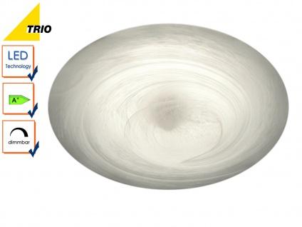 LED Deckenleuchte Deckenlampe ALABASTER Glas alabasterfarbig Ø 32 cm