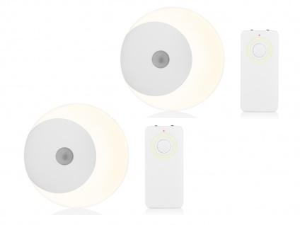 LED Nachtlicht 2er Set Fernbedienung, Dimmer & Timer Batteriebetrieb - Kinder