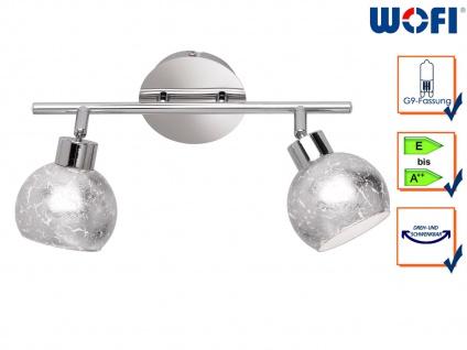 Design Deckenleuchte Spots drehbar Silber G9, Wohnraumleuchte Dielenlampen