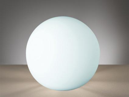 Kugel Tischleuchte Bodenlampe Deko Glaskugel für innen Weiß Ø20cm - Lichtobjekte