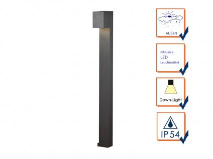 2er SET LED Wegeleuchte aus ALU in anthrazit für außen H100cm Lichtstrahl 0°-90° - Vorschau 3