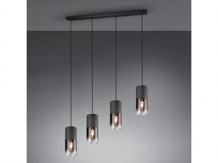 Mehrfammige LED Rauchglas Balken Pendelleuchte über Kochinsel Esstisch, Zylinder
