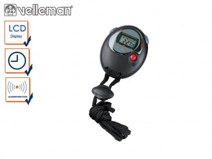 Wasserfeste Sport Stoppuhr mit Zwischenzeit, Uhrzeit / Datum und Alarmfunktion