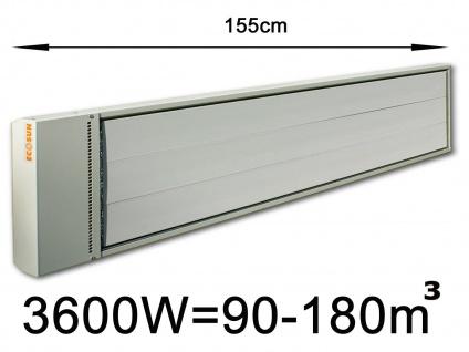 3600W Industrie-Strahlungsheizung f. Räume 90-180m³, pulverbeschichtet