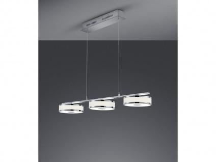 LED Pendel in Nickel matt mit Switch Dimmer, LIFT ME Höhenverstellung von 95-160