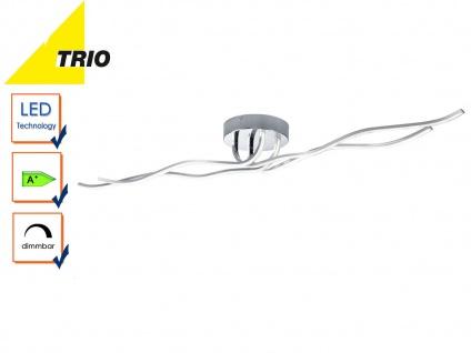 Trio Design LED Deckenleuchte CATOKI Chrom dimmbar, Deckenlampe Wohnzimmer