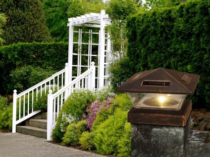 LED Garten Solarlampe für Zaunpfost, Terrassenbeleuchtung, Balkongeländer, weiß - Vorschau 4