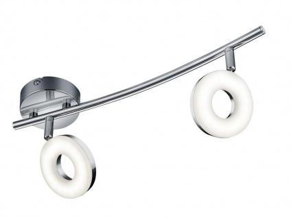 LED Deckenstrahler schwenkbar für Innen Chrom mit Lichtspot Wandlampe rund Büro - Vorschau 2