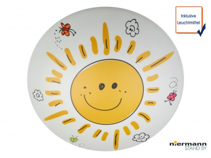 LED Deckenleuchte dimmbar rund Ø35cm SUNNY LED Deckenschale Kinderzimmer