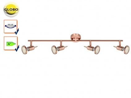 LED Deckenstrahler Deckenleuchte ANNE, Kupfer matt, schwenkbar, GU10, Globo