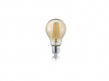 Switch Dimmer FILAMENT LED mit E27 Fassung, 8Watt warmweiß, Glas amberfarbig