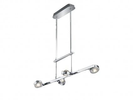 Höhenverstellbares 4 Spot Balkenpendel mit Switch Dimmer, Up & Downlight, Silber - Vorschau 2