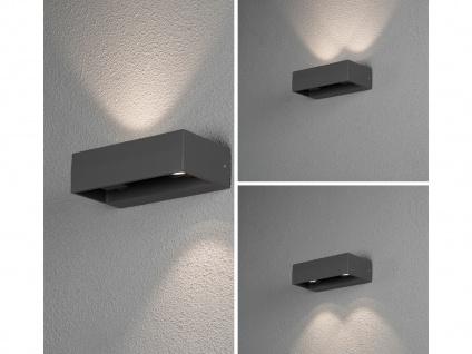 Eckige LED Außenleuchte Anthrazit Up & Down wählbar Hauswand Fassadenbeleuchtung - Vorschau 5