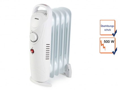 500W Tristar Elektroheizung mit regelbarem Thermostat, Ölradiator Raumheizung