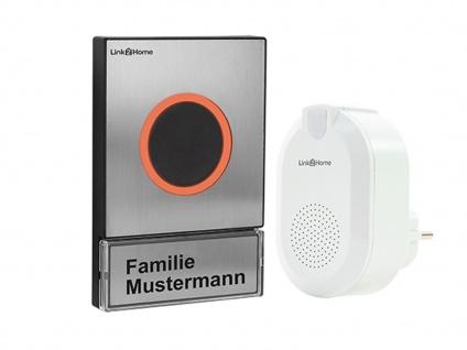 Wifi Türgong mit drahtlosem Klingelknopf in Edelstahloptik für 1 Familienhaus