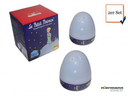 2er Set Magische Laterne KLEINER PRINZ LED Schlummerlicht Spieluhr Lichtspiel