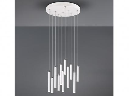 Runde LED Pendelleuchte Weiß matt mit 3 Stufen Dimmer Lampen für über Esstisch