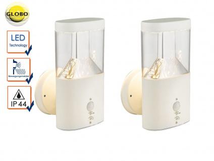 Set 2x LED Außenwandleuchte mit Bewegungsmelder ? Terrassenlampe Fassadenleuchte
