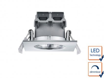 LED Einbaustrahler Decke 4er Set eckig dimmbar Chrom glänzend 5, 5W Deckenleuchte - Vorschau 4