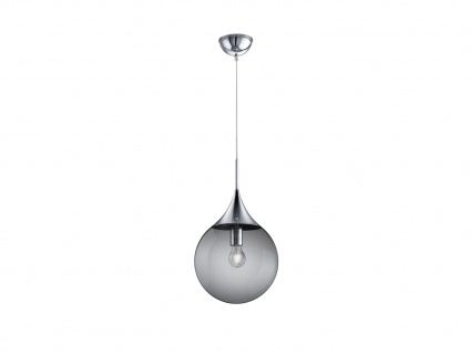 Designerlampe Glaskugel Pendelleuchte Rauchglas für über Esstisch Esszimmer, Ø30