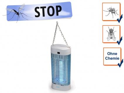 Profi Insektenvernichter mit Aufhängung, Licht-Falle, Mücken-Lampe, Camping